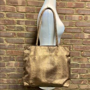 Two's Company 2 Chic Bronze Textured Tote Bag
